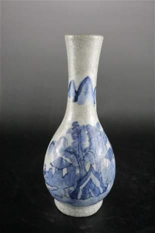 A Fine Blue and White 'Landscpae' Vase