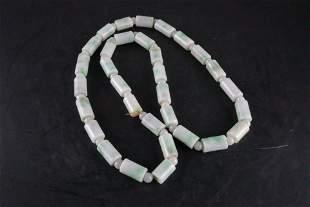 A Fine Burmese Jadeite Bracelet