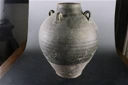 A Rare Ancient Porcelain Handle Pot