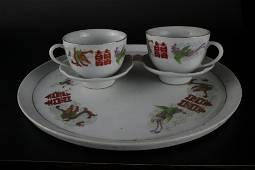 A Fine Set of Famille-rose 'Xi' Tea Cups