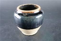 A Fine Black Glazed Pot