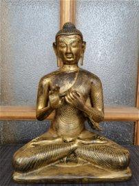 A Fine Gilt-Bronze Figure of Tibetan Vairocana