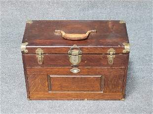 Antique Oak Tool Chest