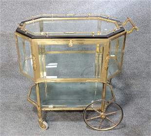 Brass + Glass Bar Cart