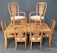 Bernhardt Dining Room Table With 8 Matching Chairs