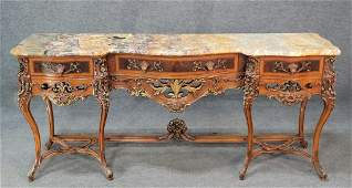 Marble Top French Sideboard