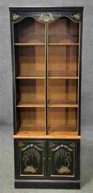 Ethan Allen Ebonized Bookcase