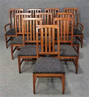 Ethan Allen Set Of 10 Chairs