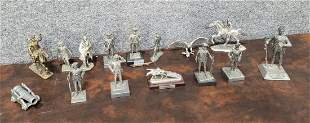 Lot Of 15 Pewter Figures