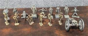 Lot Of 16 Pewter Figures