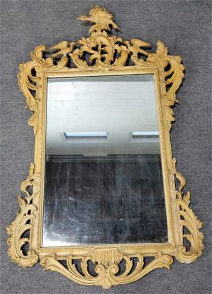 Carved Chippendale Guilt Mirror