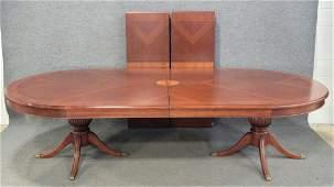 Large Custom Italian Inlaid Dining Room Table 2 Boards