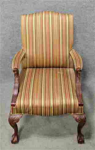 Georgian Style Open Arm Chair