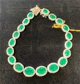 Emerald + Diamond Bracelet