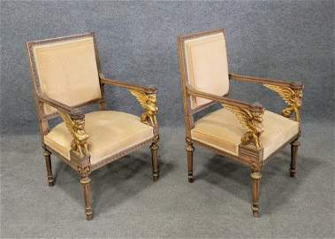 Pair Of Early 19th Century Italian Guilt Fauteuils