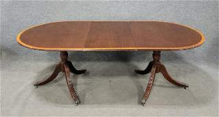 Banded Mahogany Dining Room Table