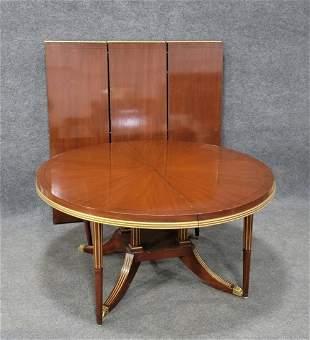 Large Custom Mahogany Dining Table w/ 3 Boards