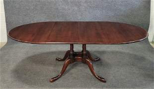 Mahogany Dining Room Table w/ 2 Leaves