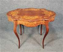 Inlaid Victorian Turtle Top Table