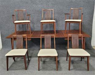7 Piece Mid Century Modern Table + Chairs