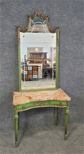 French Marble Top Vanity With Mirror