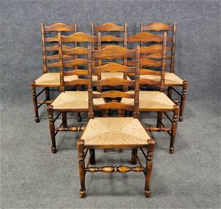 6 Ladder Back Chairs