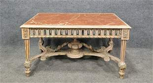 Marble Top Antique Coffee Table In The Manner Of Jansen