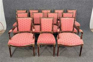 12 Louis XV Style Chairs