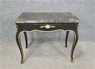 Marble Top Jansen Style Desk
