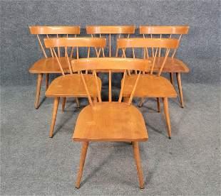 6 Paul McCobb Chairs