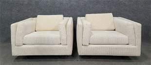 Pair Of Milo Baughman Style Club Chairs