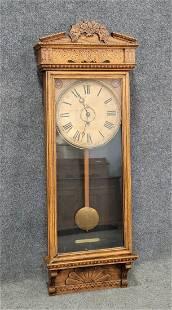 Oak Hanging Clock