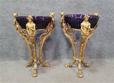 Very Important Pair Of Bronze Bowl Jardinières
