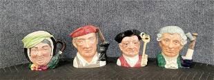 4 Royal Doulton Mugs