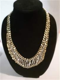 Lovely Crystal and Gold color Necklace