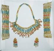 Vintage Egyptian Style Costume Jewelry Set
