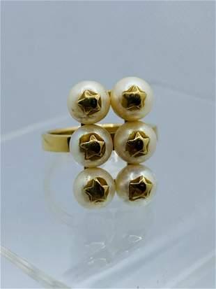 Cultured Pearl Costume Jewelry Ring Stars