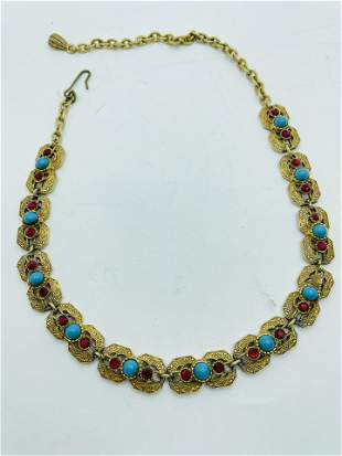 Vintage High Quality Costume Jewelry Rhinestone Necklac