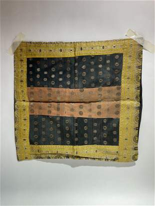 Old Indian Textile black and yellow