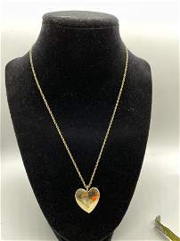 14K Gold Heart Pendant with Chain