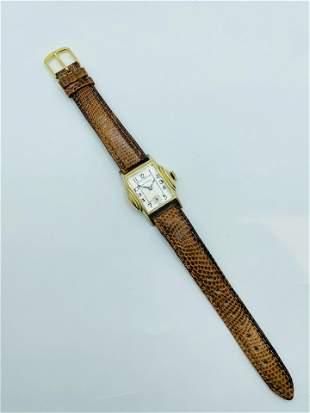 Vintage Belmar Mens Art Deco Wrist Watch 10K GF