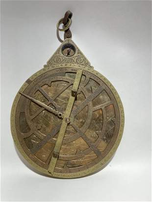 Bronze Islamic Astrolabe Astrology Scientific Tool