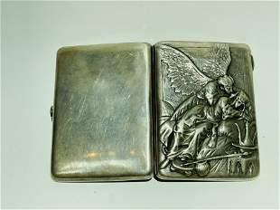 Russian Silver Cigarette Case Box