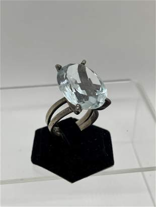 Large Stone Ring Silver Mounting