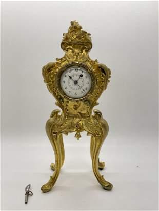 Antique French Bronze Desktop Clock