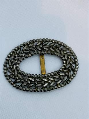 Antique Victorian Steel Cut Jewelry Clip Choker