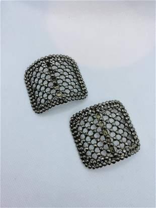 Antique Victorian Steel Cut Jewelry Shoe Clips LW PARIS