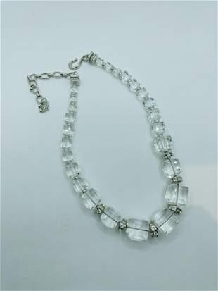 Large Swarovski Square Crystal Necklace