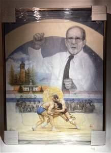 Mike Kupka Dan Gable Olympic Medal Wrestling Giclee