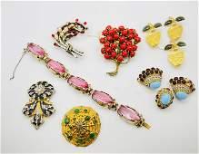 Eisenberg De Rosa KJL Costume Jewelry lot